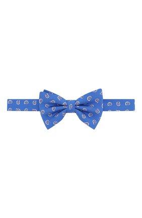 Детский шелковый галстук-бабочка POLO RALPH LAUREN синего цвета, арт. 352794096 | Фото 1