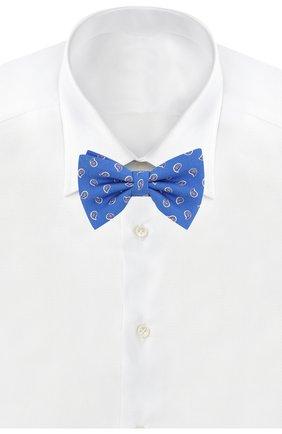 Детский шелковый галстук-бабочка POLO RALPH LAUREN синего цвета, арт. 352794096 | Фото 2