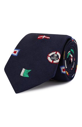 Детский шелковый галстук POLO RALPH LAUREN синего цвета, арт. 351794101 | Фото 1