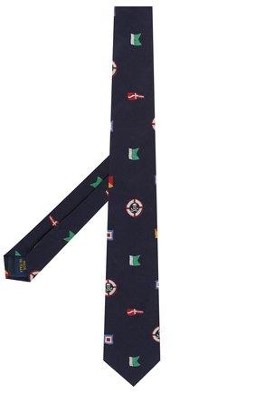 Детский шелковый галстук POLO RALPH LAUREN синего цвета, арт. 351794101 | Фото 2