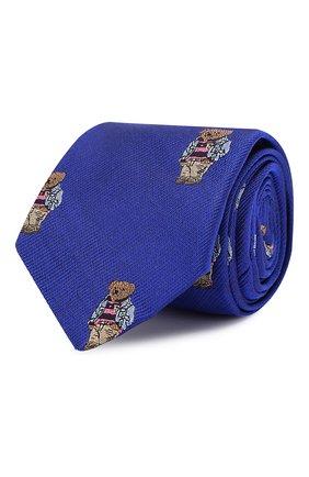 Детский шелковый галстук POLO RALPH LAUREN синего цвета, арт. 351794099 | Фото 1