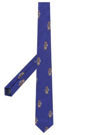 Детский шелковый галстук POLO RALPH LAUREN синего цвета, арт. 351794099 | Фото 2
