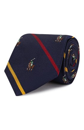 Детский шелковый галстук POLO RALPH LAUREN синего цвета, арт. 351794092 | Фото 1