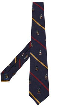 Детский шелковый галстук POLO RALPH LAUREN синего цвета, арт. 351794092 | Фото 2