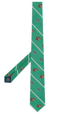 Детский шелковый галстук POLO RALPH LAUREN зеленого цвета, арт. 351794091 | Фото 2