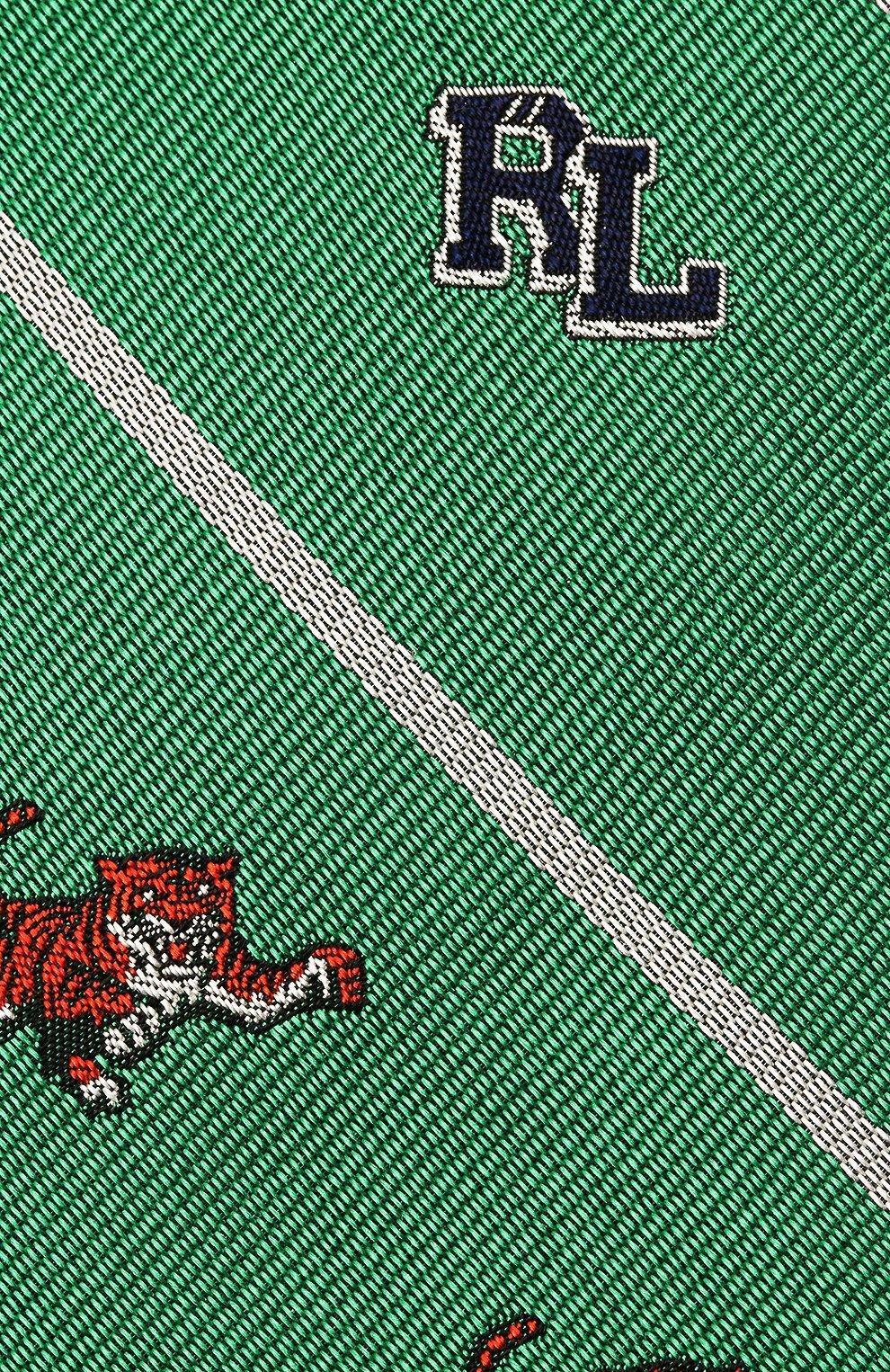 Детский шелковый галстук POLO RALPH LAUREN зеленого цвета, арт. 351794091   Фото 3 (Материал: Текстиль, Шелк)
