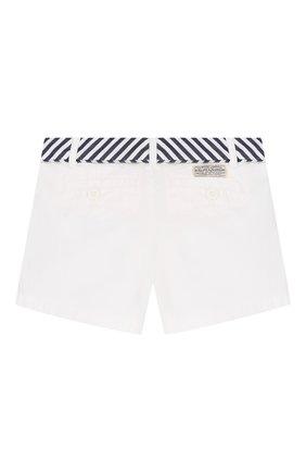 Детские джинсовые шорты POLO RALPH LAUREN белого цвета, арт. 312786044 | Фото 2