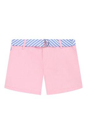 Детские джинсовые шорты POLO RALPH LAUREN розового цвета, арт. 312786044 | Фото 1