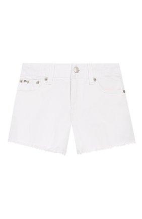Детские джинсовые шорты POLO RALPH LAUREN белого цвета, арт. 312751713 | Фото 1