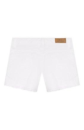 Детские джинсовые шорты POLO RALPH LAUREN белого цвета, арт. 312751713 | Фото 2