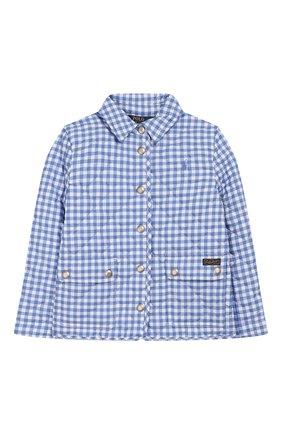 Детская стеганая куртка POLO RALPH LAUREN голубого цвета, арт. 311784837 | Фото 1