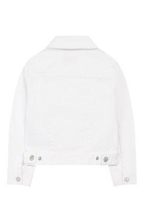 Детская джинсовая куртка POLO RALPH LAUREN белого цвета, арт. 311751711 | Фото 2