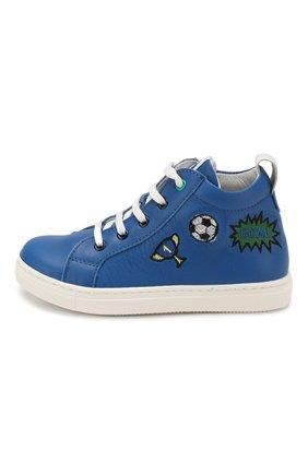 Детские кожаные кеды WALKEY синего цвета, арт. Y1B4-40636-0092/19-24 | Фото 2