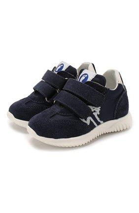 Детские замшевые кроссовки WALKEY синего цвета, арт. Y1B4-40651-0029/19-24 | Фото 1