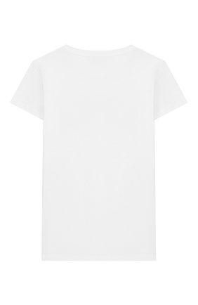 Детская хлопковая футболка BALMAIN белого цвета, арт. 6M8001/MA030/4-10 | Фото 2
