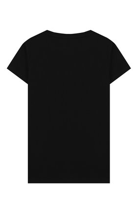 Детская хлопковая футболка BALMAIN черного цвета, арт. 6M8001/MA030/4-10 | Фото 2