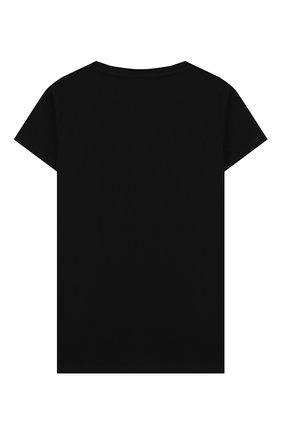 Детская хлопковая футболка BALMAIN черного цвета, арт. 6M8031/MX030/4-10 | Фото 2