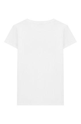 Детская хлопковая футболка BALMAIN белого цвета, арт. 6M8721/MX030/4-10 | Фото 2
