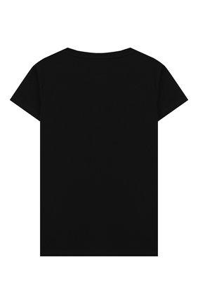Детская хлопковая футболка BALMAIN черного цвета, арт. 6M8721/MX030/4-10 | Фото 2