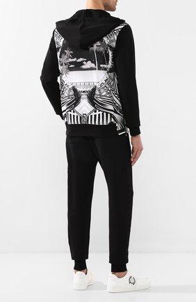 Мужские кожаные кеды VERSACE черно-белого цвета, арт. DSU7843/DVTCMG | Фото 2