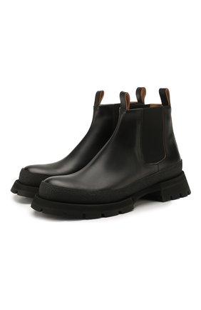Мужские кожаные челси JIL SANDER черного цвета, арт. JI33512A-11590 | Фото 1