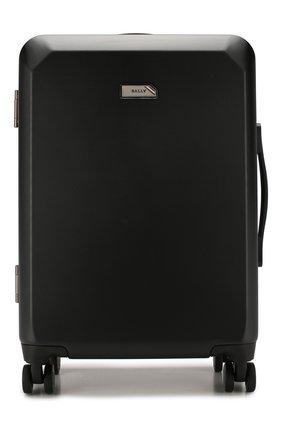 Мужской дорожный чемодан BALLY черного цвета, арт. THERENCE/100 | Фото 1