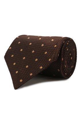 Мужской шелковый галстук TOM FORD коричневого цвета, арт. 7TF09/XT0   Фото 1