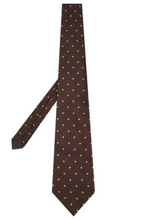 Мужской шелковый галстук TOM FORD коричневого цвета, арт. 7TF09/XT0   Фото 2