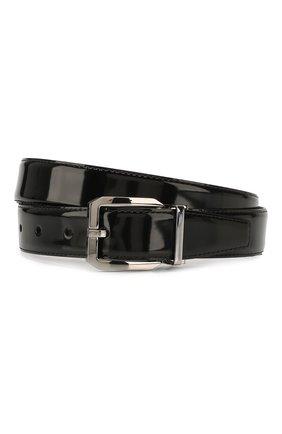 Мужской кожаный ремень DOLCE & GABBANA черного цвета, арт. BC4262/A1037 | Фото 1