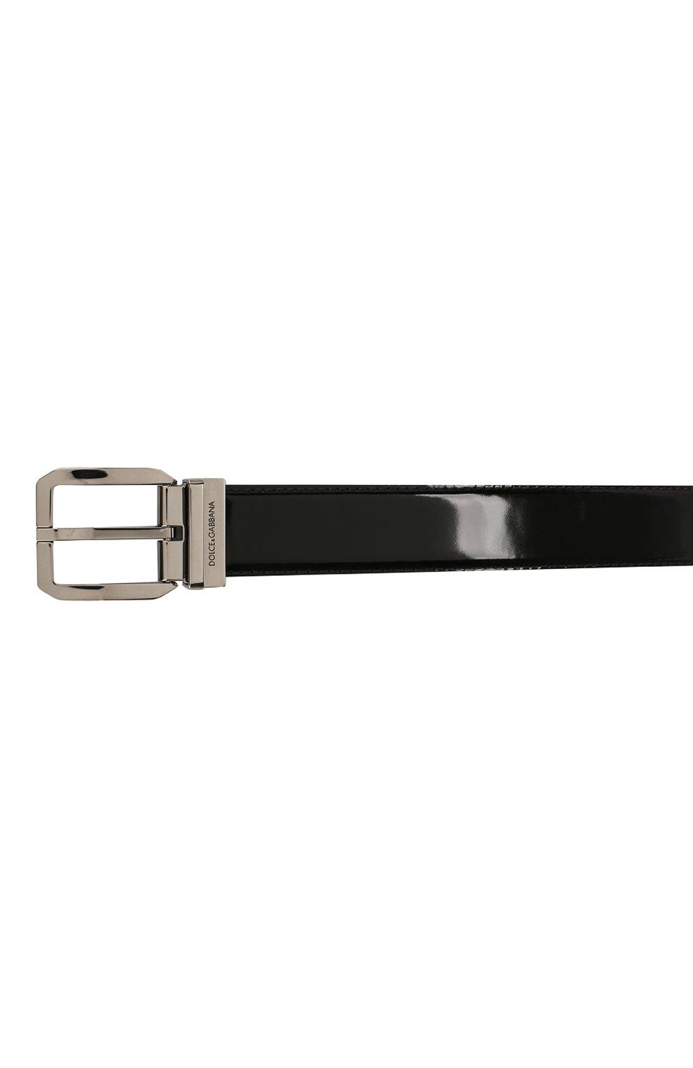 Мужской кожаный ремень DOLCE & GABBANA черного цвета, арт. BC4262/A1037   Фото 3