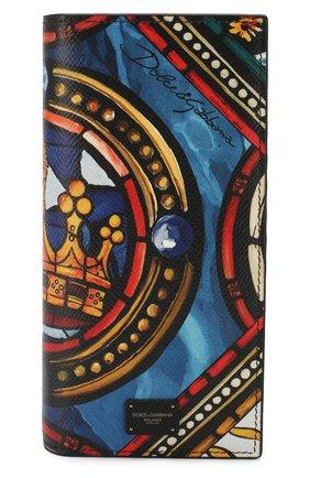 Мужской кожаное портмоне DOLCE & GABBANA разноцветного цвета, арт. BP2573/AZ657 | Фото 1