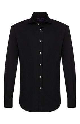 Мужская хлопковая сорочка RALPH LAUREN черного цвета, арт. 791769934 | Фото 1
