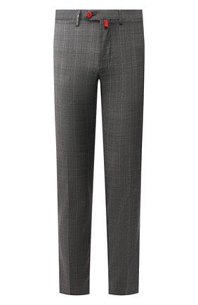 Мужские шерстяные брюки KITON серого цвета, арт. UFPP79K06S11   Фото 1