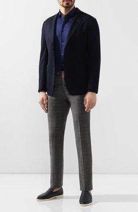 Мужские шерстяные брюки KITON серого цвета, арт. UFPP79K06S11   Фото 2