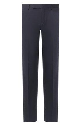 Мужские брюки из смеси хлопка и кашемира ERMENEGILDO ZEGNA темно-синего цвета, арт. 766F12/77TB12 | Фото 1