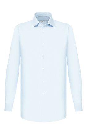 Мужская хлопковая сорочка BRIONI бирюзового цвета, арт. RCL810/P907L | Фото 1