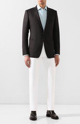 Мужская хлопковая сорочка BRIONI бирюзового цвета, арт. RCL810/P907L | Фото 2