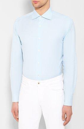 Мужская хлопковая сорочка BRIONI бирюзового цвета, арт. RCL810/P907L   Фото 3