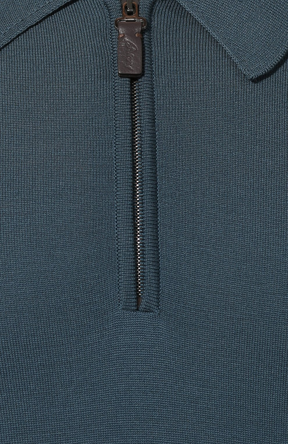 Мужское шерстяное поло BRIONI бирюзового цвета, арт. UMS10L/0ZK18   Фото 5
