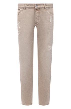 Мужские джинсы BRUNELLO CUCINELLI бежевого цвета, арт. M078YD2360 | Фото 1