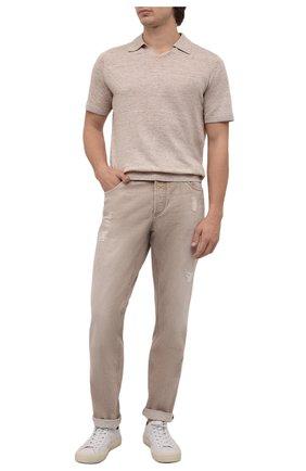 Мужские джинсы BRUNELLO CUCINELLI бежевого цвета, арт. M078YD2360 | Фото 2
