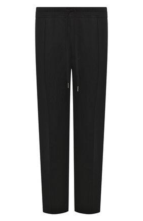 Мужские хлопковые брюки TOM FORD черного цвета, арт. BU250/TFJ974 | Фото 1 (Материал внешний: Хлопок; Длина (брюки, джинсы): Стандартные; Мужское Кросс-КТ: Брюки-трикотаж; Случай: Повседневный)