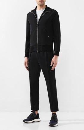 Мужские хлопковые брюки TOM FORD черного цвета, арт. BU250/TFJ974 | Фото 2 (Материал внешний: Хлопок; Длина (брюки, джинсы): Стандартные; Мужское Кросс-КТ: Брюки-трикотаж; Случай: Повседневный)