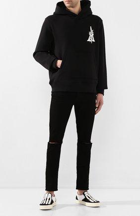 Мужской хлопковое худи AMIRI черного цвета, арт. Y0M02361TE | Фото 2