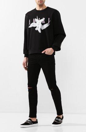 Мужской хлопковый свитшот AMIRI черного цвета, арт. Y0M02358TE | Фото 2