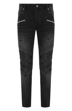 Мужские джинсы BALMAIN черного цвета, арт. TH05419/Z251 | Фото 1
