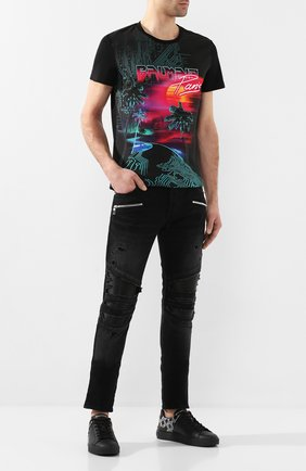 Мужские джинсы BALMAIN черного цвета, арт. TH05419/Z251 | Фото 2