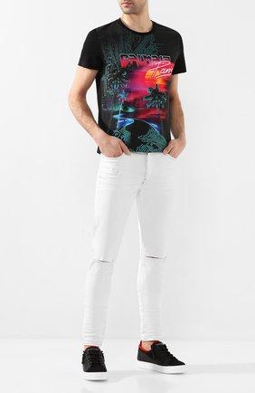Мужская хлопковая футболка BALMAIN разноцветного цвета, арт. TH01601/I297 | Фото 2