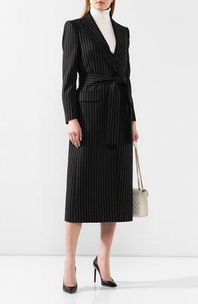 Женское шерстяное пальто DOLCE & GABBANA серого цвета, арт. F0Z60T/FR2XI | Фото 2