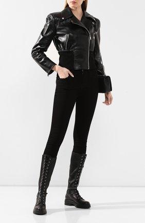 Женская кожаная куртка DOLCE & GABBANA черного цвета, арт. F9H65L/HULF5 | Фото 2